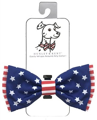 Huxley & Kent 4th of July Liberty Bow Tie Pet Collar Attachment (X-Large) ()
