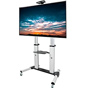 """VIVO Ultra Heavy Duty Mobile Stand TV Cart Mount   Fits 60"""" to 100"""" Flat Screens (STAND-TV22S)"""