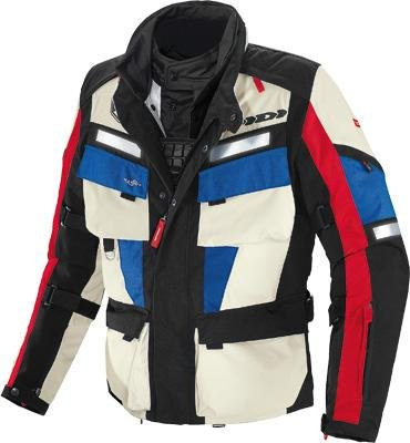 Textile Jacket H2out (Spidi Marathon H2Out Mens Black/Red/Blue Textile Jacket - 3X-Large)