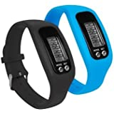 SURESELLER LIMITED LCD PEDOMETER WRIST WATCH BRACELET SPORT CALORIE STEP DISTANCE WALKING COUNTER FITNESS **FREE MINI LADYBIRD WITH EVERY ORDER*** (BLUE)