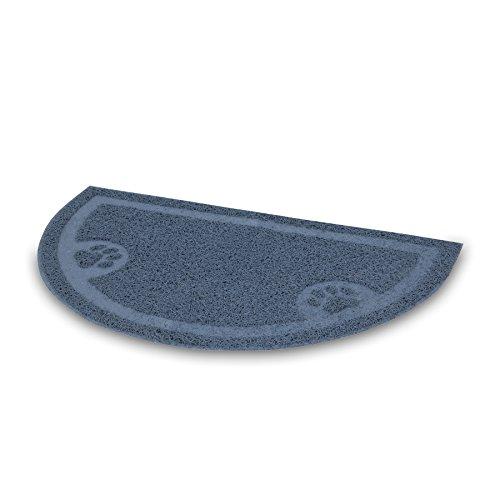 PETMATE LITTER CATCHER MAT 1/2 CIRCLE , Ice (Petmate Litter Mat)