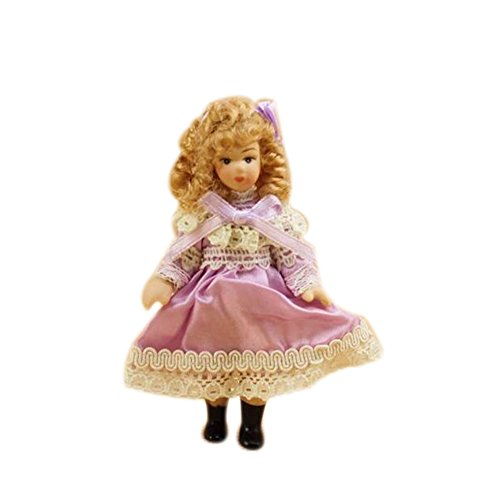 Dimart Happy Family Mini Lovely Little Girl - 1;12 Dollhouse Miniature Furniture - Multicolor Children Dollhouse Miniature