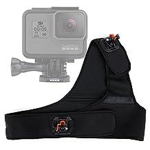 DURAGADGET Exclusive 2-in-1 Dual-Perspective Chest & Shoulder Mount in Black Neoprene for GoPro HERO5, HERO4, HERO3+, HERO3, Hero 2, Hero 1 & HERO Action Cameras (Naked/Helmet/LCD BacPak)