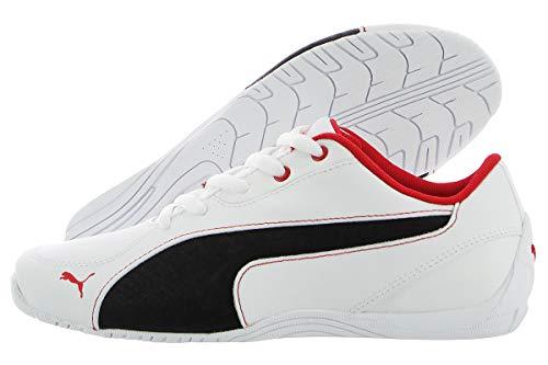PUMA Boys' Drift CAT 5 L NU JR Sneaker White Black, 5.5 M US Big Kid ()