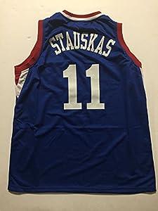 Unsigned Nik Stauskas Philadelphia 76ers Sixers Blue Custom Basketball Jersey Size XL No Brands/Logos
