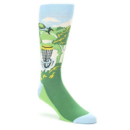 Green Frisbee Disc Golf Men's Dress Socks - Statement Sockwear