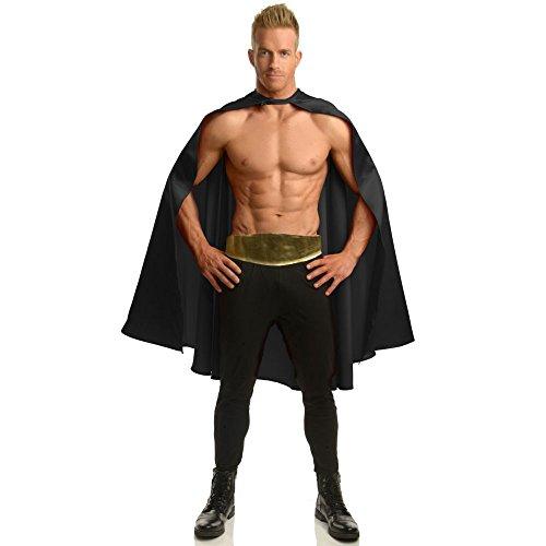 [Deluxe Black Superhero Cape Standard] (Batman Costume Vigilante)