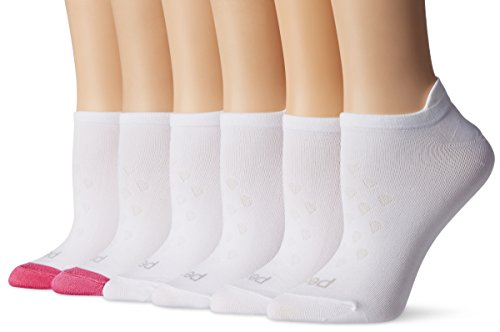 PEDS Women's Microfiber Low Cut Socks with Tab Back, 6 Pairs, Assorted, Shoe Size: 5-10