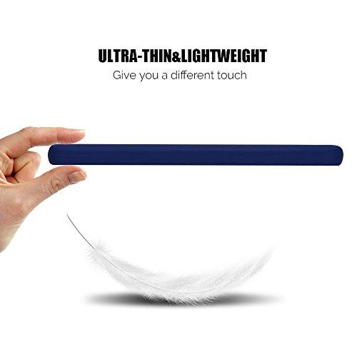Funda Xiaomi Redmi 5A Anfire Carcasa Silicona Gel TPU Case Ultra Delgado Ultra Ligero Suave Mate Goma Protectora Caso para Redmi 5A [5.0 Pulgadas] Flexible Caja Back Case Bumper Cover Anti Rasguños An Azul