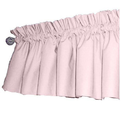 Solid Color Window Valance, Pink