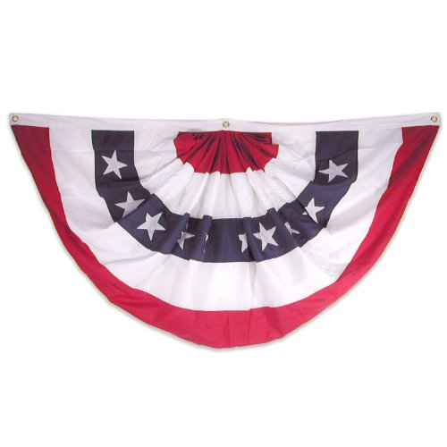 Super Tough USA48NPF Pleated Fan, Red, White, - 8' Giant Banner Nylon