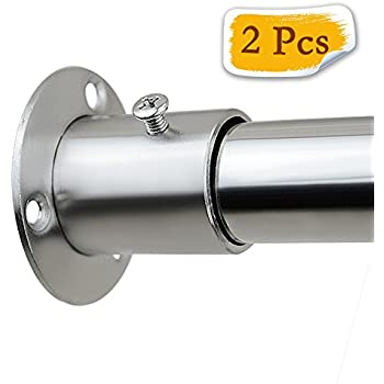 Alise FL3005 2P SUS304 Stainless Steel Shower Closet Rod Holder Flange  Socket Bracket 25mm/