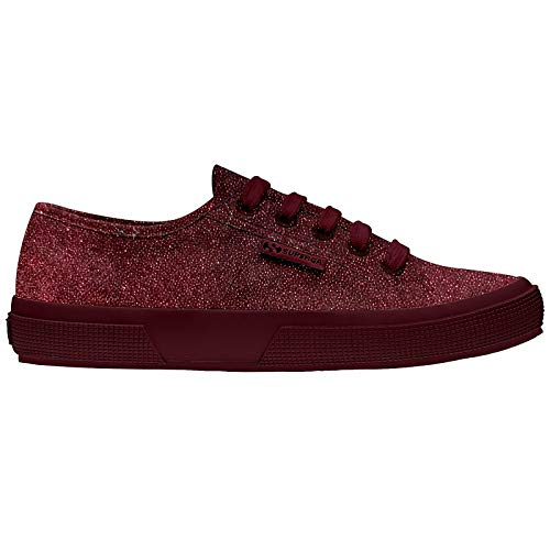 Bordeaux Shiny 2750 Glitter Velvet Superga Red Shoes Total qU18xZ0