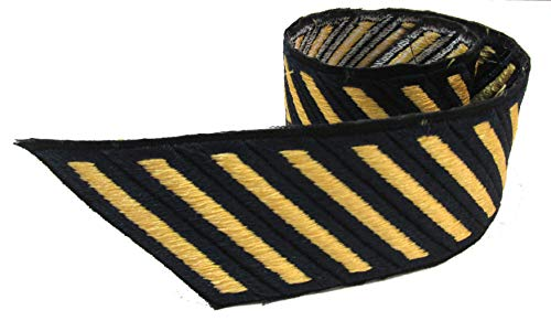 Gold on BLUE Service Stripes MALE - 10 PACK