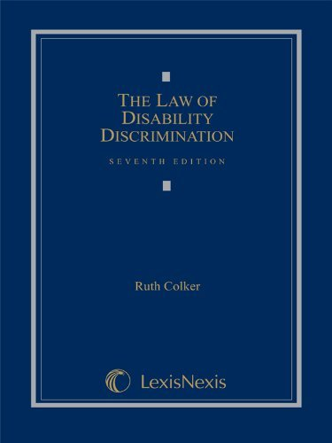 Download By Ruth Colker - The Law of Disability Discrimination (5.3.2009) pdf epub