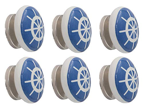 THDC Nautical Drawer Pulls, Drawer Knob, Cabinet Knob, Kitchen Cabinet Pull, Door Knob, Door Pulls (Set Of 6) (Ship's Steering Wheel) ()