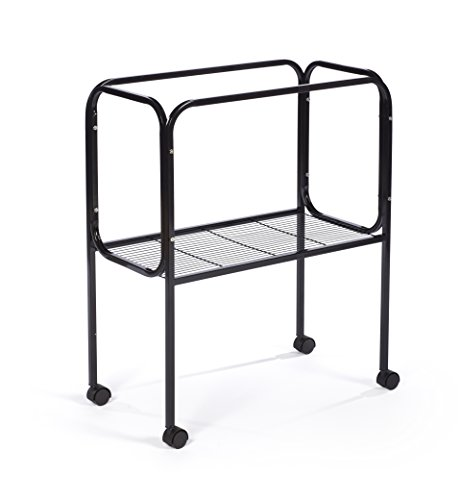 """Prevue Pet Products 446 Bird Cage Stand for 26"""" x 14"""" Base Flight Cages, Black"""