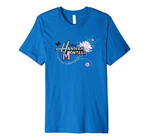 Disney Hannah Montana Logo Flower Premium T-Shirt