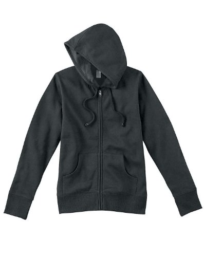 Econscious Ladies 9 Oz. Organic/Recycled Full-Zip Hood Ec4501 -Charcoal Xl EC4501