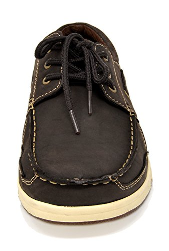 Bruno Marc Men's Pitts Brown Genuine Leather Loafers Boat Shoes – 9 M US