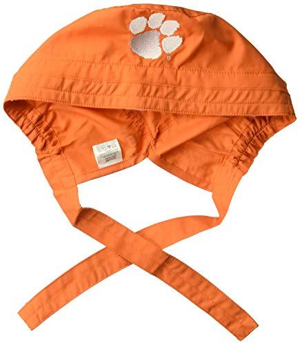 WonderWink Men's Clemson University Scrub Cap, Orange, 1SZ - Orange Scrub Cap