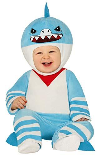 Baby Toddler Boys Girls Little Blue Shark Animal Sea Creature Fancy Dress Costume Outfit 9-24 Months (9-18 Months)