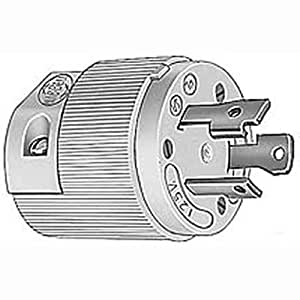 110v male plug wiring diagram amazon.com: hubbell hbl26cm11 30 amp 125 volt twist-lock ... 15 amp male plug wiring diagram