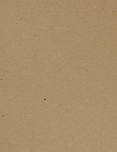 Kraft Brown Chipboard Sheets. Great for Creative Projects and Protecting Valuable Photos and documents. (Jumbo 8.5'' x 11'') (Pack of 25) by Studio 12