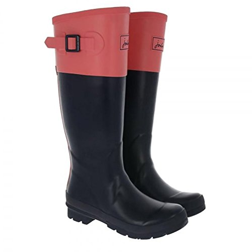 JOULES-CAVENDISH-WOMENS-TALL-RAIN-BOOTS-FRENCH-NAVY-SOFT-CORAL