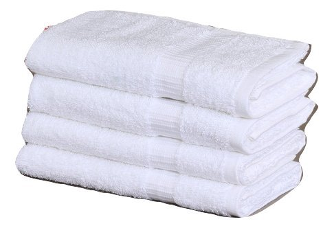 Gold textiles Large Cotton Salon Luxury Hand Towels (4-Pack,White,16''x30'') -Highly Absorbent Multipurpose Use for Bath, Hand, Face, Gym and Spa (White) by Gold textiles