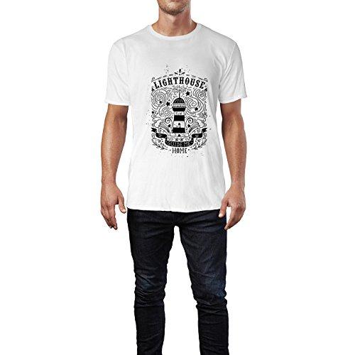 SINUS ART® Vintage Herren T-Shirts in Weiss Fun Shirt mit tollen Aufdruck