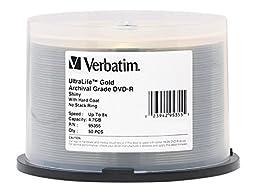 Verbatim UltraLife 4.7GB 8x Gold Archival Grade DVD-R, 50-Disc Spindle 95355