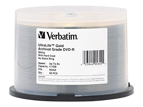 Verbatim DVD-R 4.7GB 8X UltraLife Gold Archival Grade - Bran