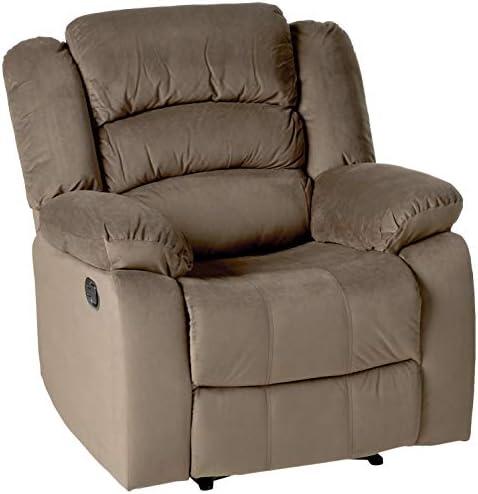 Blackjack Furniture 9824 Winthrop Collection Microfiber Modern Reclining Living Room Sofa