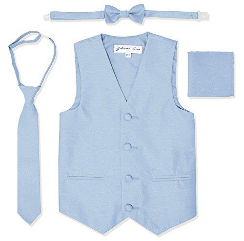 Johnnie Lene JL34 Boys Formal Tuxedo Vest Set (4/5, Sky Blue)