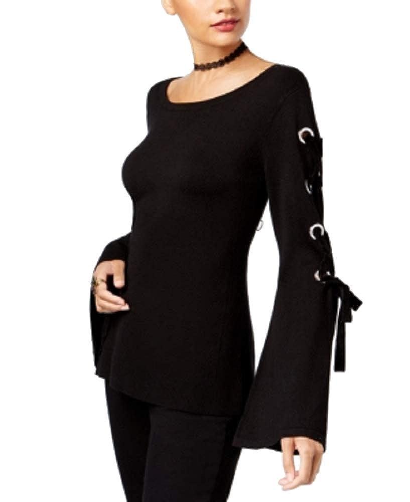 INC International Concepts Velvet LaceUp Sweater