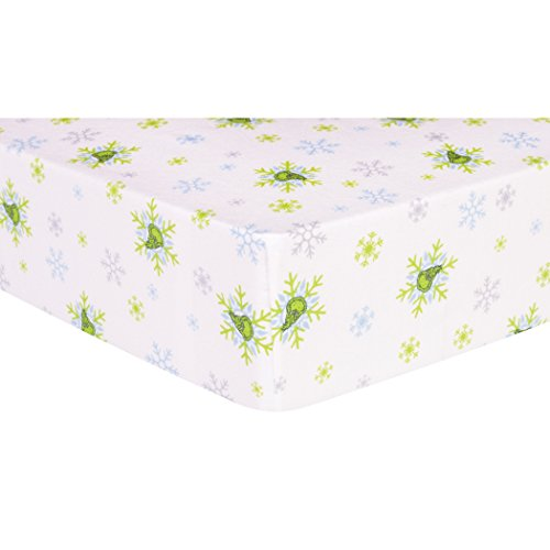 Ice Bedding Crib (Trend Lab Dr. Seuss The Grinch Deluxe Flannel Fitted Crib Sheet)