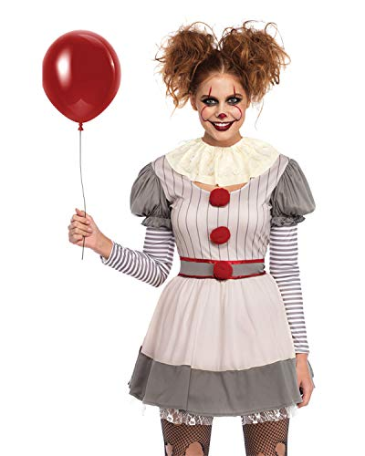 Leg Avenue Womens Scary Clown Costume, Multi -