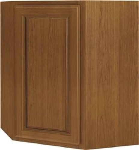 Sunco INC. WD2430RT/A Diagonal Corner Single Door Kitchen Cabinet, Brown
