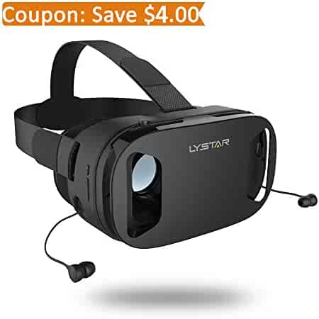 bae735ac73a 3D VR Glasses W Headphones Virtual Reality Headset for VR Games   3D Movies  by LyStar