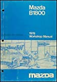 1978 Mazda B1800 Repair Shop Manual Original