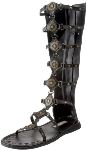 Funtasma by Pleaser Men's Halloween Roman-15 Boot,Black,S (US Men's 8-9 M) (Shoes Roman Sandals)