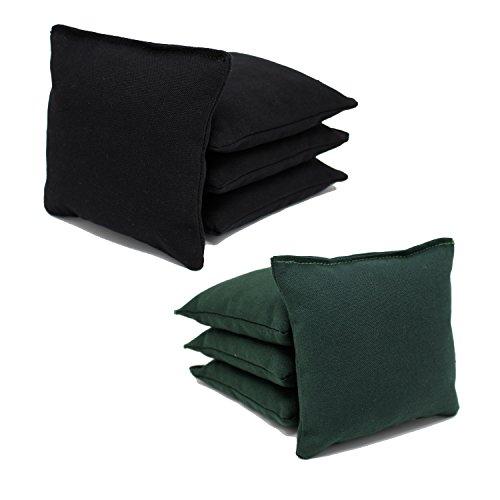 Free Donkey Sports 8 ACA Regulation Cornhole Bags.Corn-Filled 25+ Colors (Black/Hunter Green)