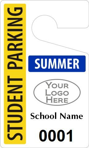 Plastic ToughTags for High School Parking, Heavy Duty Plastic Permit Tag, 50 Tags / Pack, 3'' x 5''