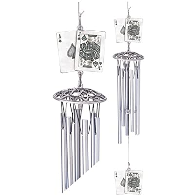 1pc, Pewter Black Jack Wind Chime