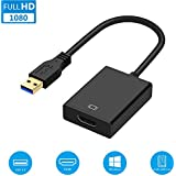 USB to HDMI Display Adapter, USB 3.0 HDMI Converter External Video Card 1080P for PC, Laptop to HDMI Monitor, TV, Projector, Supports Windows 10/8.1/8/7
