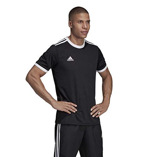 adidas Men's Alphaskin Tiro Jersey, Black/White, Small