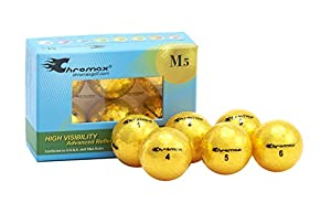 Chromax Metallic M5 Colored Golf Balls (Pack of 6) (Newer Version)