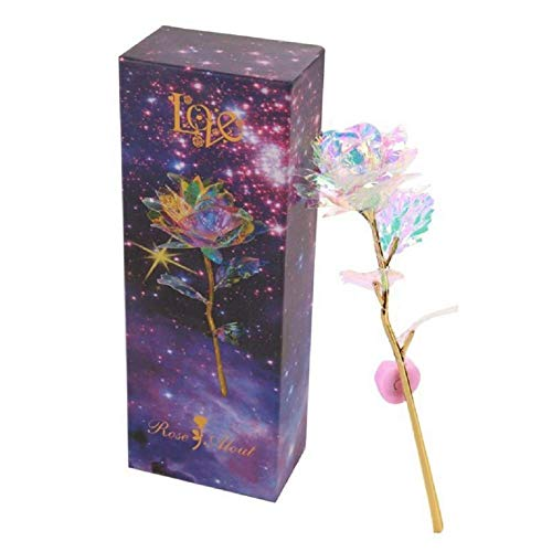Galaxy Rose Flower Valentine/'s Day Lovers/' Gift Romantic Crystal Rose Gift
