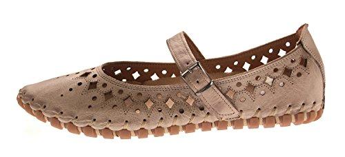 Gemini Mocassino Pantofola Pantofola Da Donna In Vera Pelle Anilina Sandali Gr. 36-41 Grigio-marrone